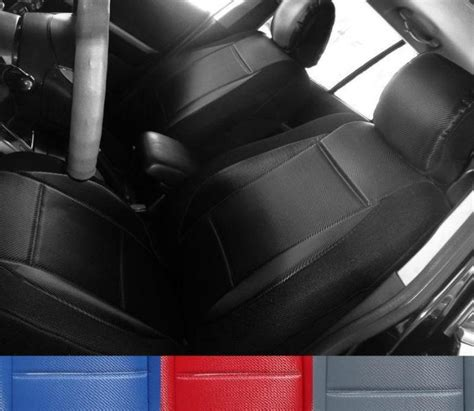 mercedes  class  custom fit  carbon fiber front seat covers black grey red blue