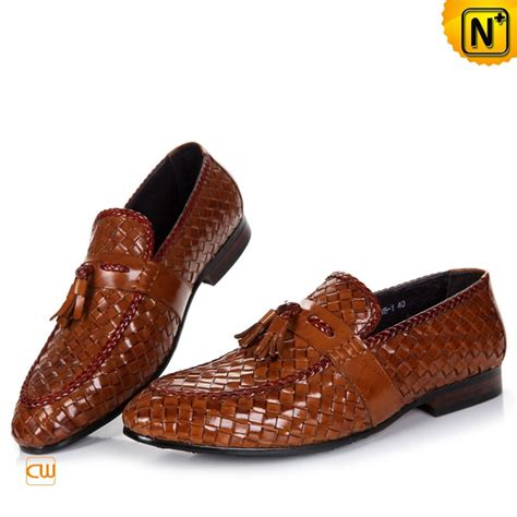 mens leather tassel loafers s woven dress tassel loafers shoes cw750068
