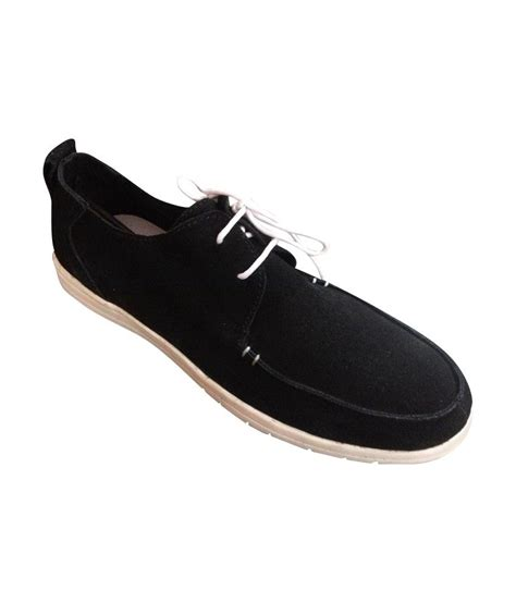 comfy shoes black smart casuals shoes price in india buy