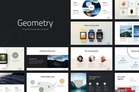 presentation template powerpoint geometry powerpoint template presentation templates