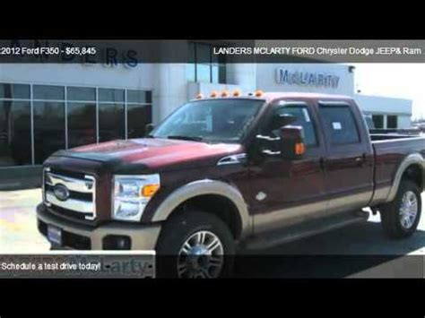 Landers Mclarty Jeep Bentonville 2012 Ford F350 Lariat 4x4 King Ranch For Sale In