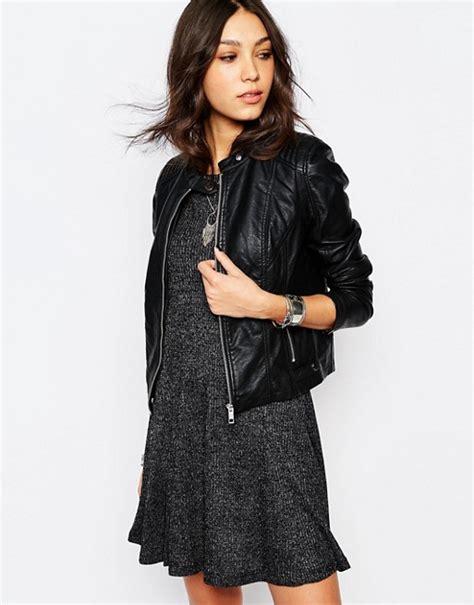Jacket Kulit Motif Print Catty Unik pimkie pimkie leather look biker jacket