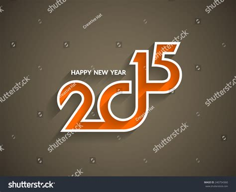 beautiful happy new year design beautiful text design of happy new year 2015 on