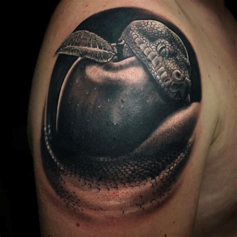 snake and apple tattoo designs awesome snake apple by jasonsextontattoo