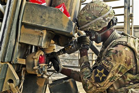 stryker refuel pfc rashaad lawrence  mechanic