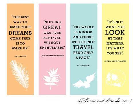 printable bookmarks with quotes from books 108 best printable bookmarks images on pinterest
