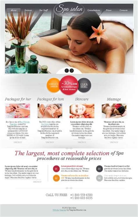 10 Best Images About Beauty Spa Brochures On Pinterest Massage Flyer Template And Beauty Salons Free Spa Website Templates