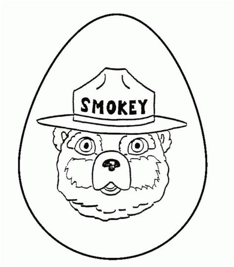 coloring page of smokey the bear smokey bear coloring pages coloring home