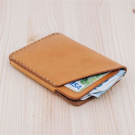 Handmade Leather Card Holder - pin by on card holder
