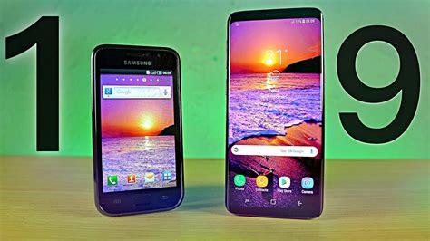 samsung galaxy s1 vs s9 8 years comparison
