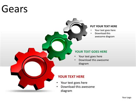 gears powerpoint presentation templates