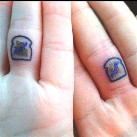 peanut butter jelly tattoo matching peanut butter jelly tattoos pb j time
