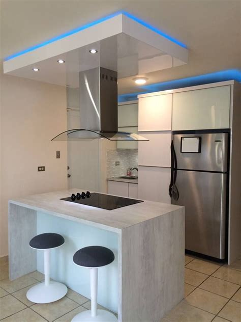 gabinetes de cocina en pvc blanco estilo moderno  isla