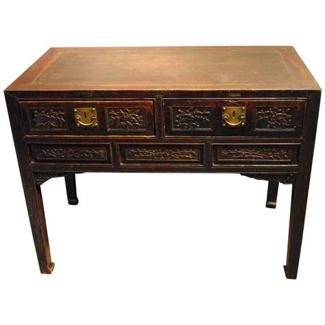 asian desk l desk for sale at 1stdibs