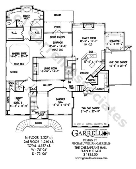 chesapeake floor plan chesapeake hall house plan house plans by garrell