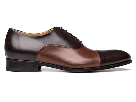oxford shoes brown cap toe oxford shoes in brown brown antique italian leather