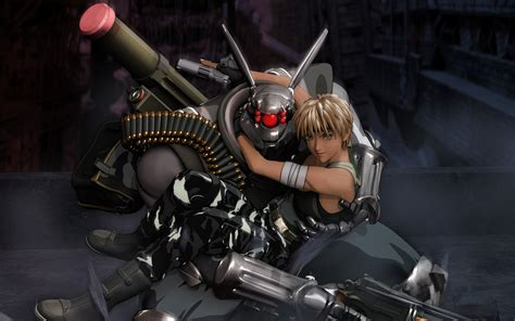 ex machina asian robot appleseed anime fighting manga cyberpunk sci fi wallpaper