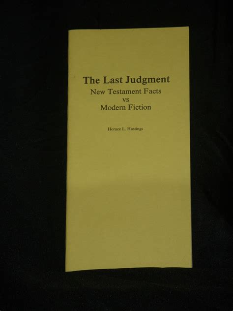 the last judgment books the last judgment hasting