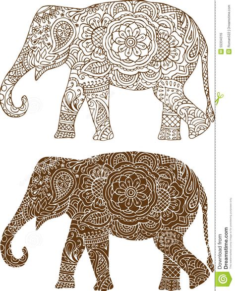 pattern elephant art indian elephant patterns crafts pinterest mehendi