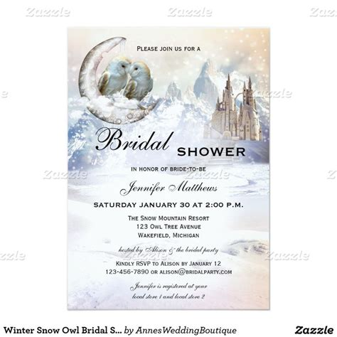 Themes Come True Invitations | 64 best winter bridal shower ideas seasonal showers