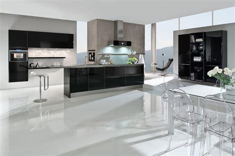 moderne küche hochglanz schwarz deckenle wohnzimmer