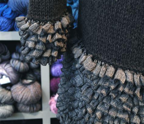 knit ruffle sweater pattern jennifer knits los angeles custom hand knit pattern