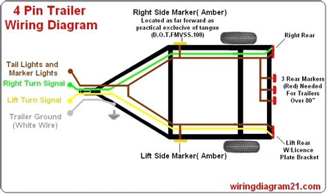 trailer connector wiring diagram 4 way wiring diagram