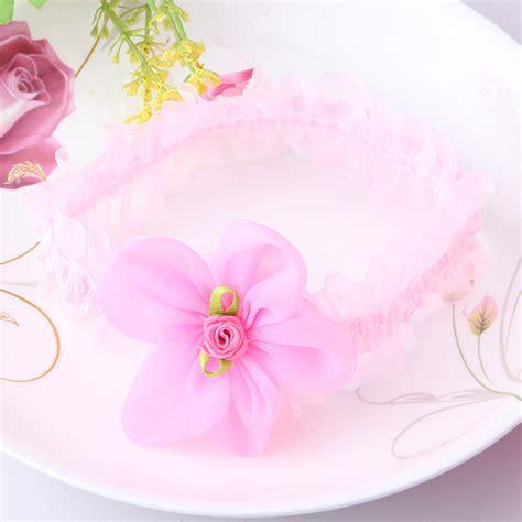 aliexpress buy children newborn beautiful ribbon newborn baby chiffon ribbon flower hair band lace
