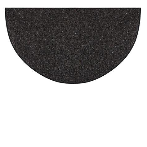 black hearth rug goods of the woods black andiron half wool hearth rug 27 inch x 48 inch