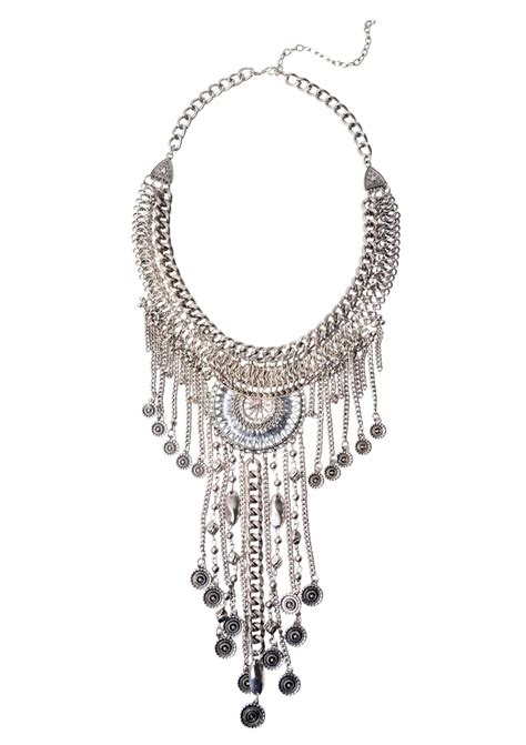 boho bohemian statement necklace happiness boutique