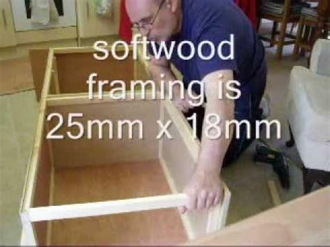 making a campervan bed base seat pt3 youtube