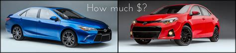 How Much Is The New Toyota Corolla 2016 Toyota Camry And Corolla Special Edition Pricing And