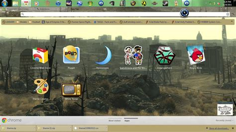 Theme Google Chrome Fallout | fallout 3 google chrome theme by bader13 on deviantart