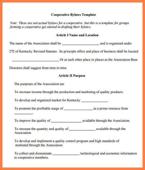 9 Company Bylaws Template Company Letterhead Corporate Bylaws Template Pdf
