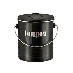 typhoon 174 vintage kitchen black compost caddy in compost