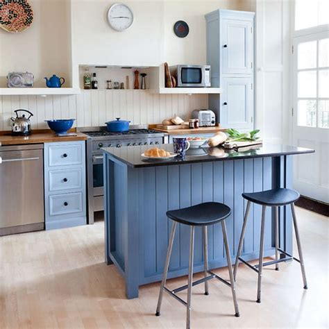 painted kitchen islands make the island the centre of the kitchen colourful