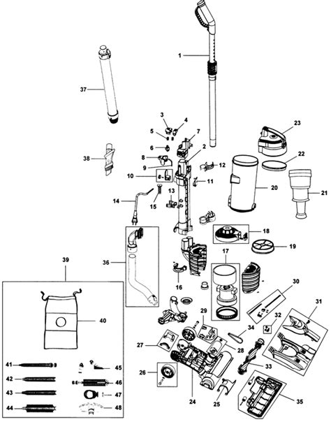 UH70403PC WindTunnel Air Vacuum Parts