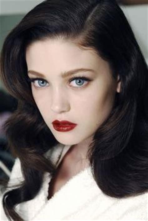 dark red lipsticks on pinterest fashion fair makeup espresso hair blue eyes fair skin wedding makeup