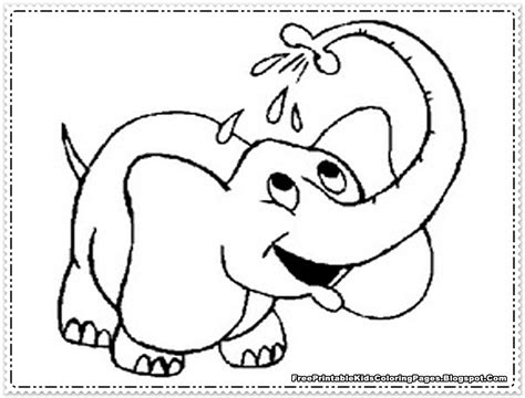 Preschool Coloring Pages Elephant | elephant coloring pages printable free printable kids