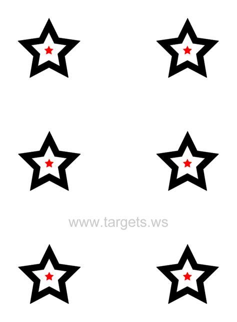 printable star targets targets site map