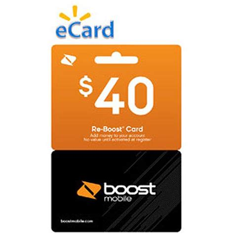 Boost Mobile Gift Cards - boost mobile 40 re boost card email delivery walmart com