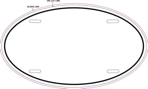 large oval shape template