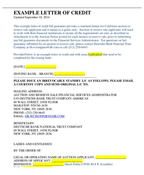Deutsche Bank Letter Of Credit financial guarantee letter exle docoments ojazlink
