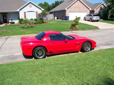 2002 corvette z06 torch red exterior 405 hp 6 speed transmission