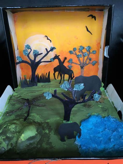 diorama savanna grassland biome african habitats