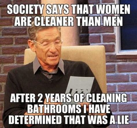 society says that women are cleaner than men funny woman