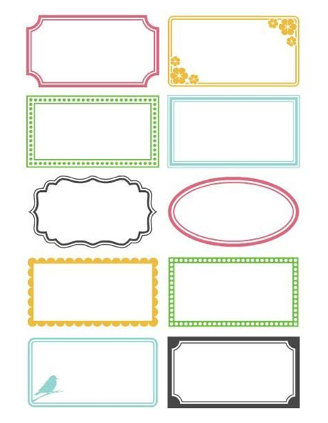 25 best ideas about label templates on pinterest