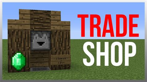 how to build a shop minecraft 1 8 redstone tutorial best trading system