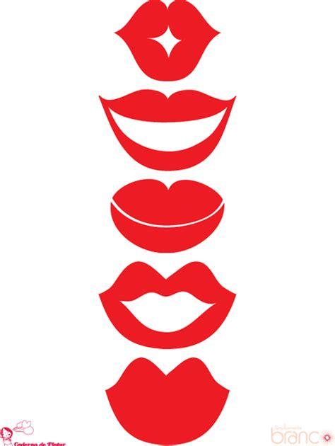 imagenes de bocas rojas moldes de olhos bocas nariz e bigodinho para imprimir