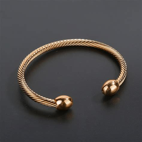 Copper Magnetic Therapy Bracelet Arthritis Pain Relief Twisted Bangle Eager   eBay